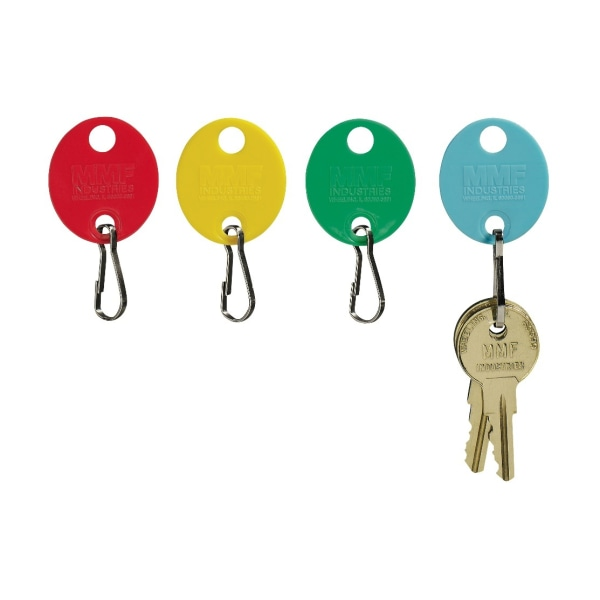STEELMASTER Snap-Hook Peg-Style Key Tags, Assorted Colors, Pack Of 20