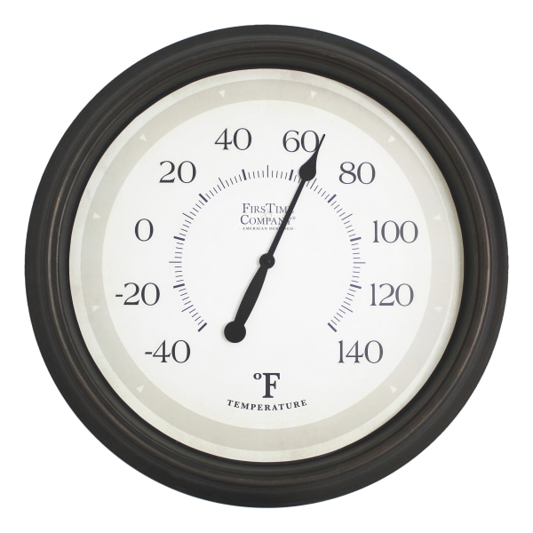 FirsTime & Co. Barden Outdoor Thermometer, Oil-Rubbed Bronze