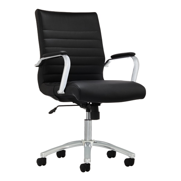 Realspace Modern Comfort Winsley Bonded Leather Mid-Back Manager Chair