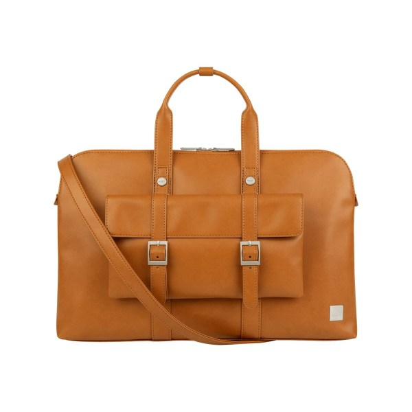 Moshi Treya Briefcase - Caramel Brown, Two-in-one Messenger, Briefcase for Laptops up to 13