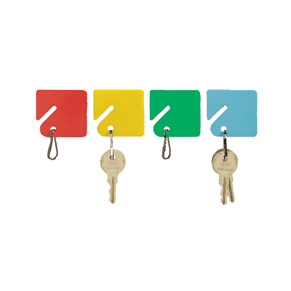MMF Industries STEELMASTER Slotted Rack Key Tags, 1 1/2 , Assorted Colors, Pack Of 20