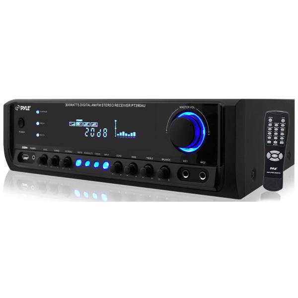 PyleHome PT390AU AM/FM Receiver - 300 W RMS - 4 Channel - AM, FM - USB - iPod Supported -  PYRPT390AU