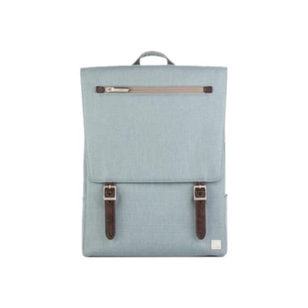 Moshi Helios Lite Slim Laptop Backpack - Sky Blue for Laptops up to 13  , Weather Resistant, Vegan Leather, RFID Pocket