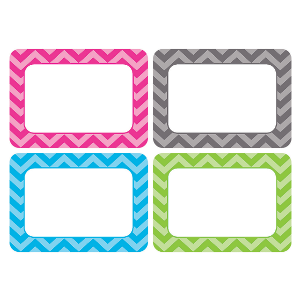 Teacher Created Resources Chevron Name Tags, 3 1/2  x 2 1/2 , Multicolor, Pack Of 180