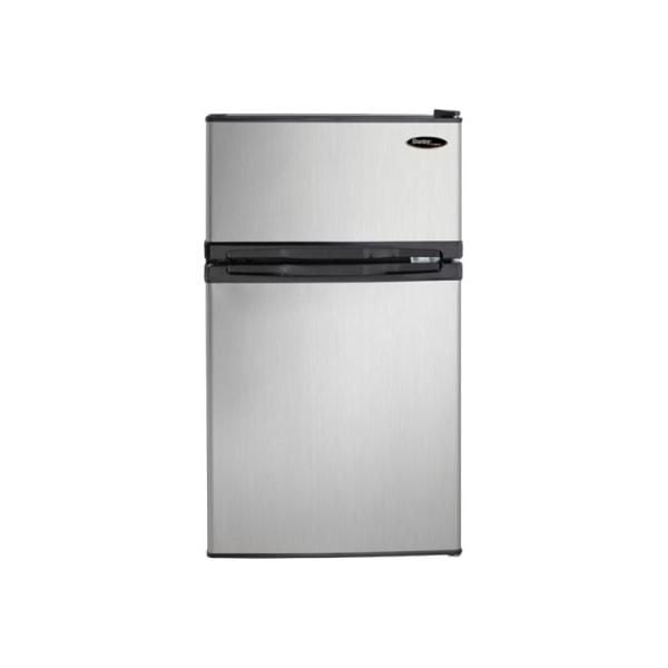 Danby Designer Dual Door Compact Fridge with Freezer - 3.10 ft - Reversible - 2.23 ft Net Refrigerator Capacity - 0.87 ft Net Freezer Capacity - 31