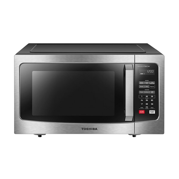 Toshiba 1.6 Cu. Ft. Counter Top Microwave, Stainless Steel