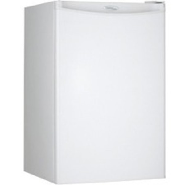 Danby Designer Compact All Refrigerator - 4.40 ft - Auto-defrost - Reversible - 4.40 ft Net Refrigerator Capacity - 268 kWh per Year - White - Smoot
