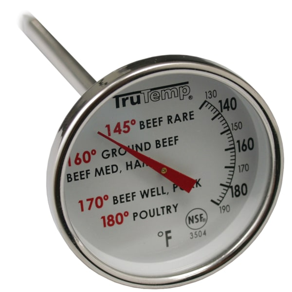 Taylor 3504 Meat Dial Thermometer - 120F (48.9C) to 200F (93.3C) - For Food