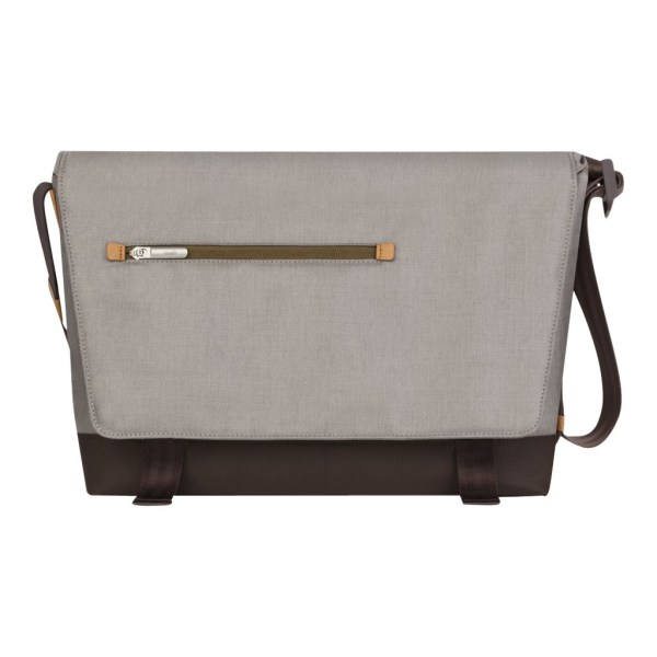 Moshi Aerio Laptop Messenger Bag - Titanium Gray for 15  Laptops, Padded Compartments, Shoulder Strap with ViscoStrap