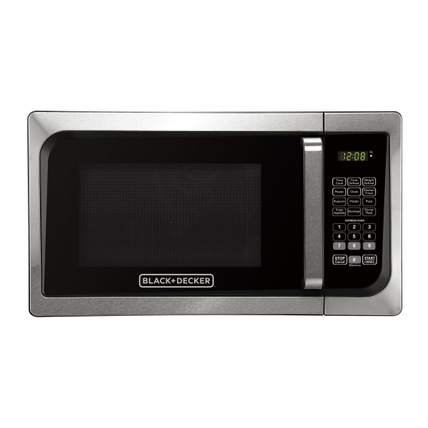 Black & Decker EM925AJK-P1 0.9 Cu Ft Pull Handle Microwave, Stainless Steel