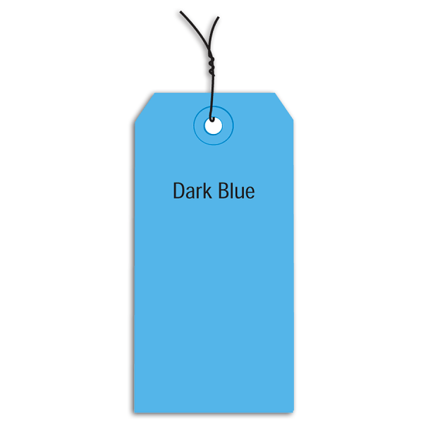 Office Depot Brand Prewired Color Shipping Tags, #2, 3 1/4  x 1 5/8 , Dark Blue, Box Of 1,000