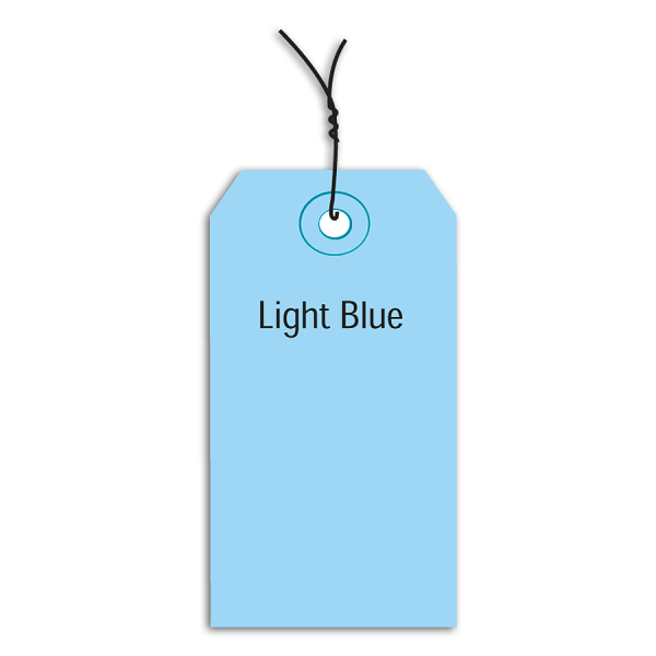 Office Depot Brand Prewired Color Shipping Tags, #2, 3 1/4  x 1 5/8 , Light Blue, Box Of 1,000