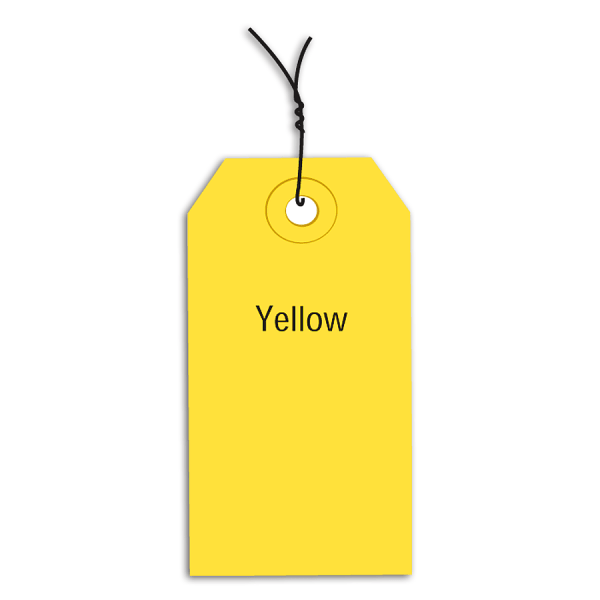Office Depot Brand Prewired Color Shipping Tags, #2, 3 1/4  x 1 5/8 , Yellow, Box Of 1,000