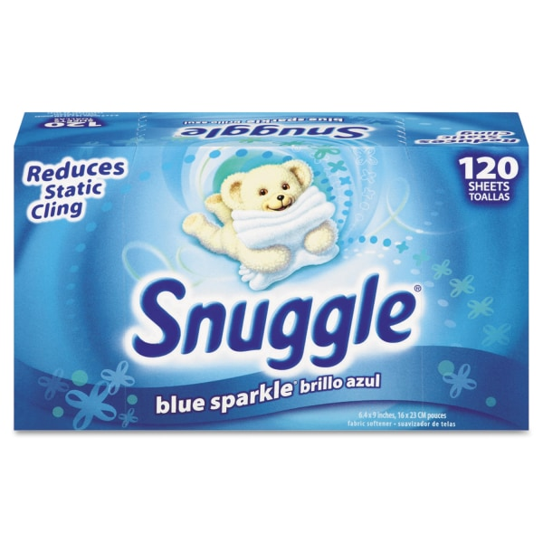 Snuggle Fabric Softener Dryer Sheets, Fresh Scent, Box Of 120 Sheets