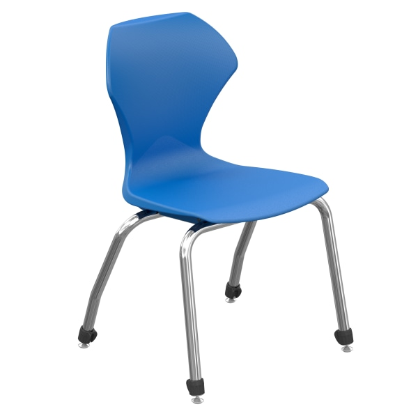 Marco Group Apex Series Stacking Chairs, 16-Inch, Blue/Chrome, Set Of 4