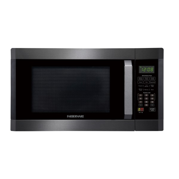 Farberware FMO16AHTBSD 1.6 Cu Ft Microwave Oven, Black/Stainless Steel