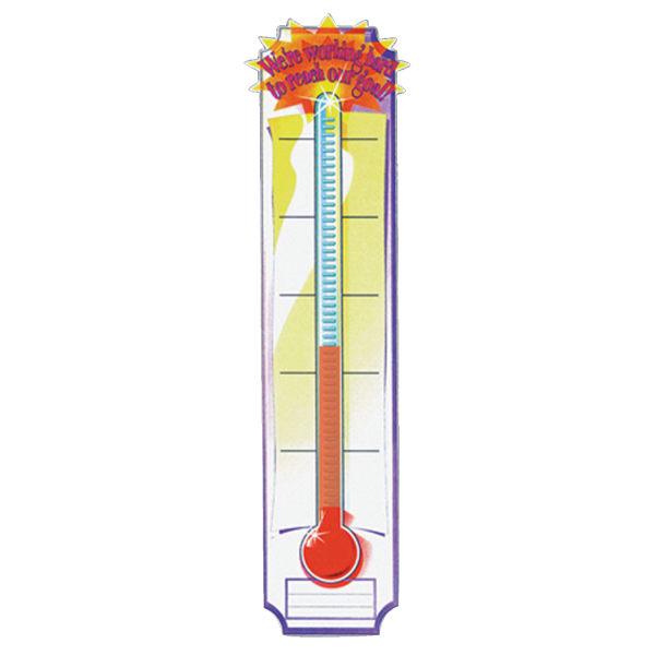 Eureka Goal-Setting Thermometer Vertical Banner, 45  x 12 , Multicolor, Pre-K - Grade 5