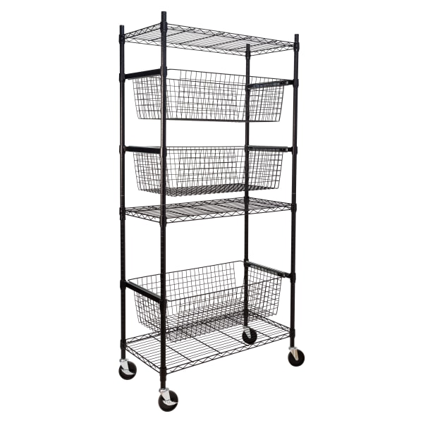 Honey Can Do Sports Equipment Storage Shelving Unit, 6 Tiers, 74-1/2 H x 18 W x 35-3/4 D, Black