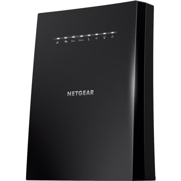 NETGEAR Nighthawk AC3000 WiFi Mesh Extender, EX8000 - 2.40 GHz, 5 GHz - MIMO Technology - 4 x Network (RJ-45) - Desktop