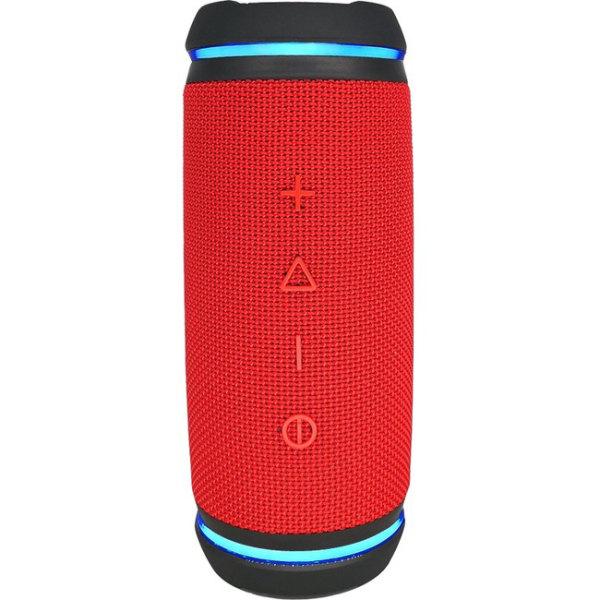 Morpheus 360 SOUND RING Wireless Portable Speaker, Waterproof IPX6, 12W Loud, Dual Pairing, Red BT5750RED - Bike Mount - TrueWireless Stereo, 360 Ci