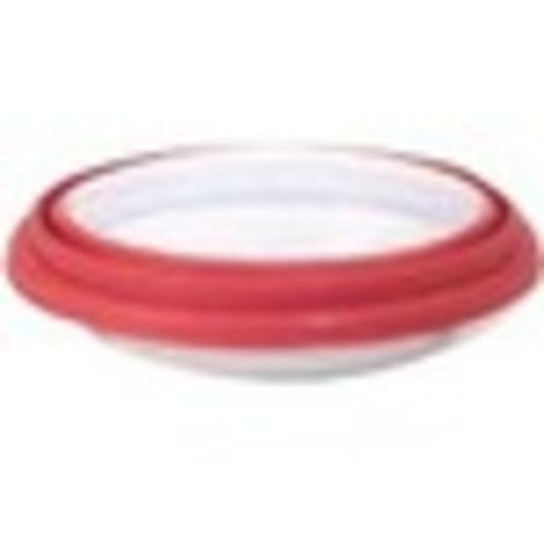 Anchor Hocking 9.5 in. Deep Pie w/Wide Fluted Edge and Red Expandable Cover - 9.50  Diameter Pie Pan, Lid - Glass - Baking, Browning - Dishwasher Safe