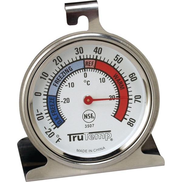 Taylor 3507 Freezer-Refrigerator Thermometer - 20F (-6.7C) to 80F (26.7C) - Durable - For Refrigerator/Freezer