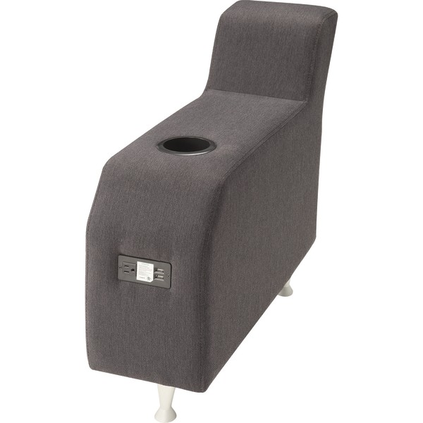 Lorell Fuze Modular Adder Arm For Armless Lounge Chairs, Upholstered, Brown