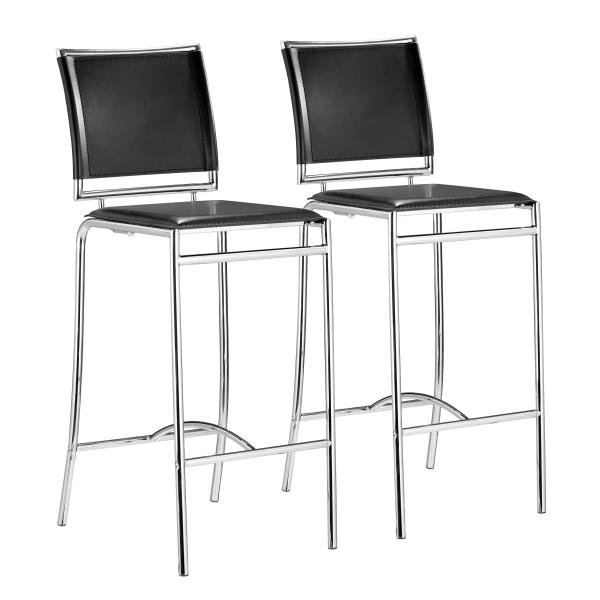 Zuo Modern Soar Bar Chairs, Black, Set Of 2 Chairs