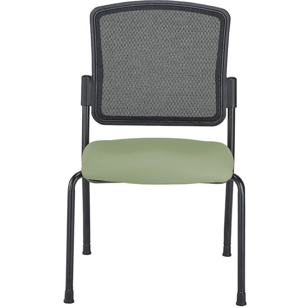 WorkPro Spectrum Armless Guest Chairs, Olive, Set Of 2 Chairs