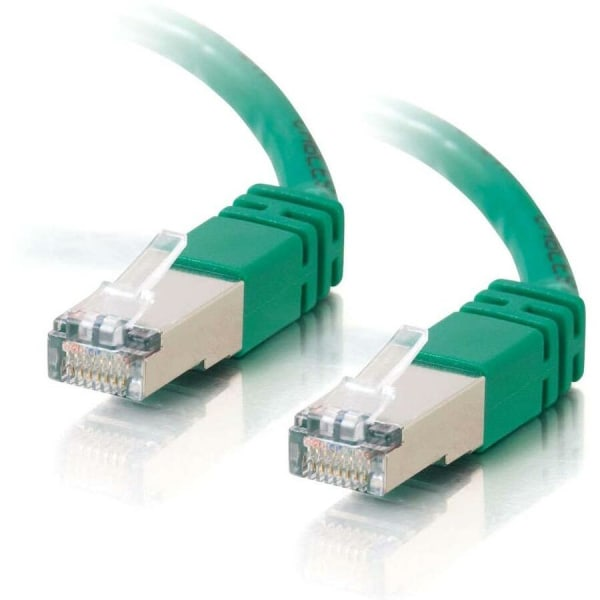 C2G-75ft Cat5e Molded Shielded (STP) Network Patch Cable - Green - Category 5e for Network Device - RJ-45 Male - RJ-45 Male - Shielded - 75ft - Green