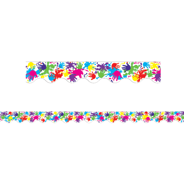 Teacher Created Resources Border Trim, 2 3/16  x 35 , Helping Hands, Pre-K - College, Pack Of 12