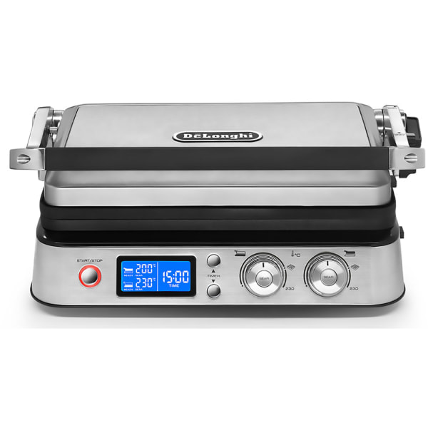 DeLonghi Livenza Electric All-Day Grill With FlexPress System, Stainless Steel