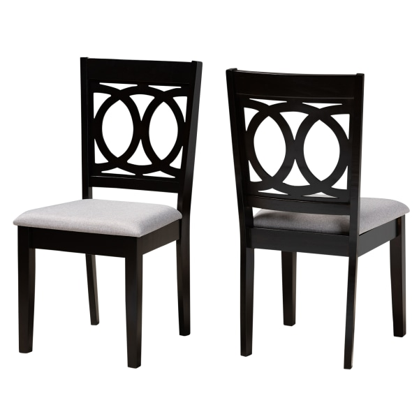 Baxton Studio 10524 Dining Chairs, Gray, Set Of 2 Chairs