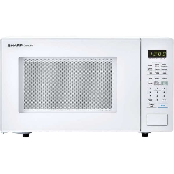 Sharp Carousel 1.4 Cu Ft Countertop Microwave Oven, White