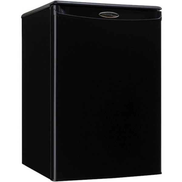Danby Designer Compact All Refrigerator - 2.60 ft - Auto-defrost - Reversible - 2.60 ft Net Refrigerator Capacity - 253 kWh per Year - Black - Smoot