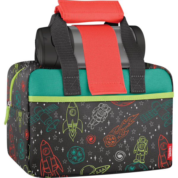Thermos Outer Space Insulated Lunch Kit, 6-3/16 H x 9-1/4 W x 5 D, Black/Gray