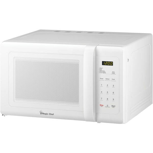 Magic Chef MCD993W .9 Cubic-ft Countertop Microwave (White) - Single - 6.73 gal Capacity - Microwave - 10 Power Levels - 900 W Microwave Power - Count