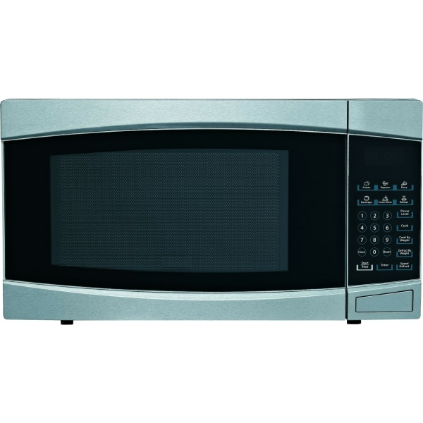 RCA 1.4 Cu Ft Stainless Microwave - Single - 10.47 gal Capacity - Microwave - 10 Power Levels - 1000 W Microwave Power - Stainless Steel, Black