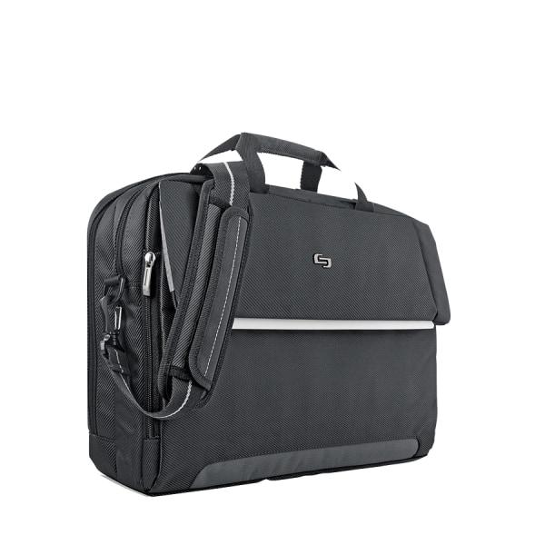 Solo Chrysler Briefcase For 17.3  Laptops, Black