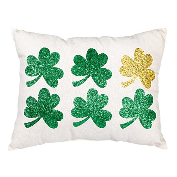 Amscan St. Patrick's Day Shamrock Rectangular Pillows, 9  x 12 , Gold/Green, Pack Of 2 Pillows