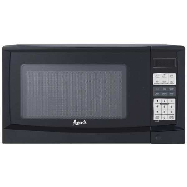 Avanti 0.9 Cu Ft Countertop Microwave, Black