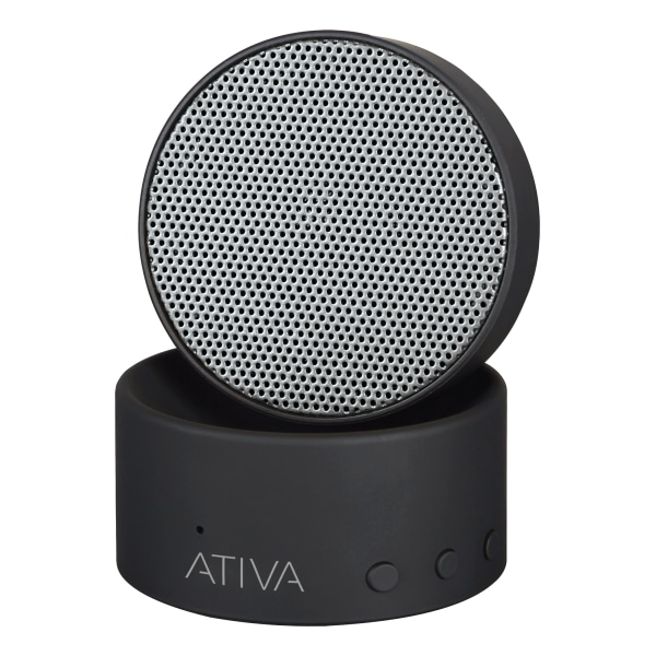 Ativa Wireless Bluetooth Swivel Speaker, Black, A106