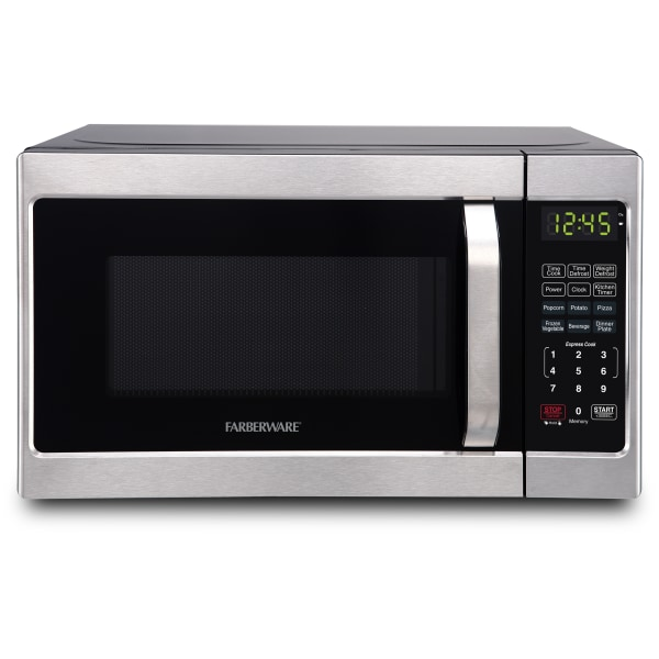 Farberware Classic FMO07AHTBKJ 0.7 Cu Ft Microwave Oven, Brushed Stainless