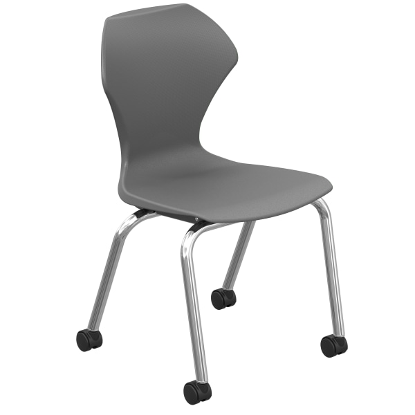 Marco Group Apex Apex Mobile Stack Chairs, Charcoal/Chrome, Pack Of 2