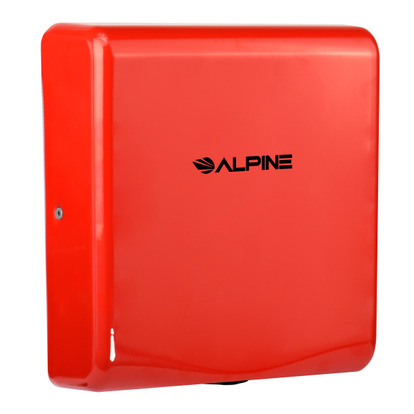 Alpine Willow Commercial High-Speed Automatic 120V Electric Hand Dryer, Red