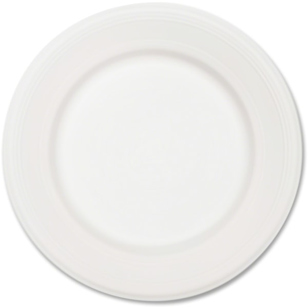 Chinet Classic White Plates - 10.50  Diameter Plate - Paper, Fiber - Disposable - Microwave Safe - 500 Piece(s) / Carton