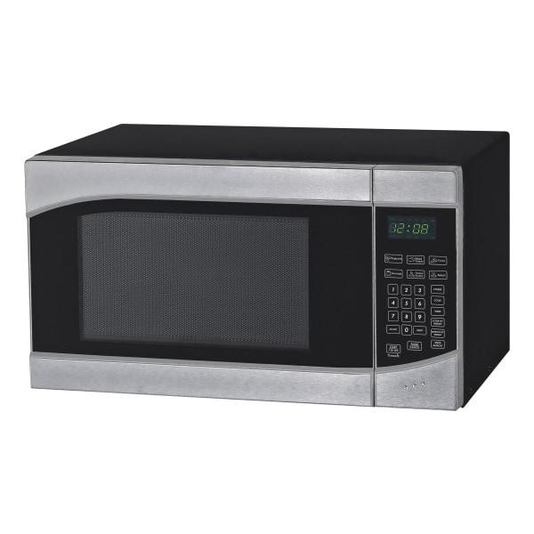 Avanti 0.9 Cu Ft Countertop Microwave Oven, Silver/Black