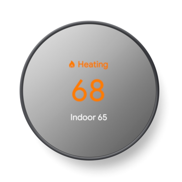 Google Nest - Thermostat - wireless - Bluetooth, 802.11a/b/g/n, 802.15.4, Bluetooth 4.0 LE - 2.4 Ghz, 5 GHz - charcoal