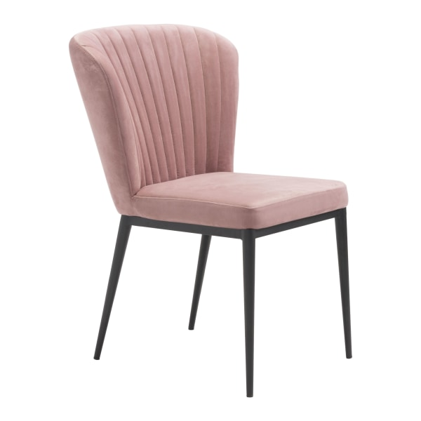 Zuo Modern Tolivere Dining Chairs, Pink/Pink, Set Of 2 Chairs