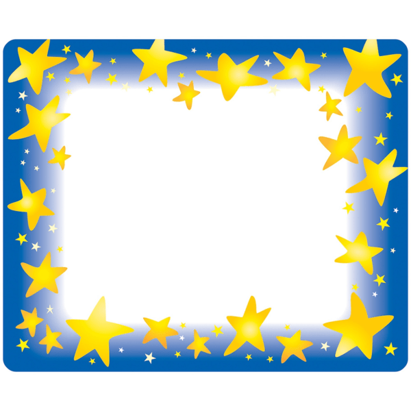Trend Star Bright Self-adhesive Name Tags - 3  Length x 2.50  Width - Rectangular - 36 / Pack - Assorted